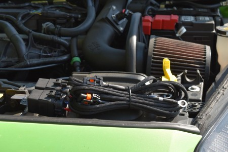 Morimoto Headlight Relay Wire Harness Action