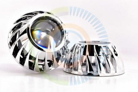 Mini Turbine HID Headlight Retrofit Projector Shrouds 1