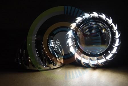 Mini Turbine HID Headlight Retrofit Projector Shrouds Action 1