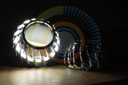 Mini Turbine HID Headlight Retrofit Projector Shrouds Action 3