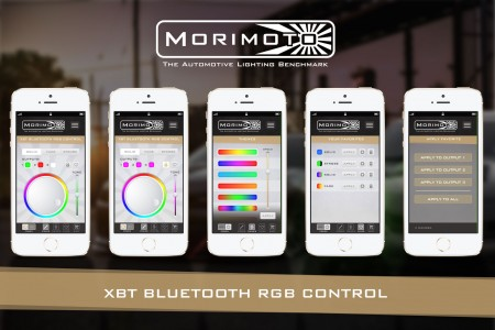 Morimoto XBT RGB LED Bluetooth Headlight Controller Action 2