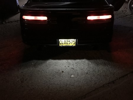 Standard Series LED License Plate bulbs on a Nissan 300zx
