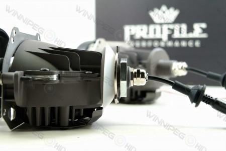Profile Bi-Lens Bi-LED Headlight Retrofit Projector 4