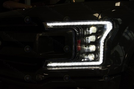 2018+ Ford F150 Morimoto XB LED Headlights Action 3