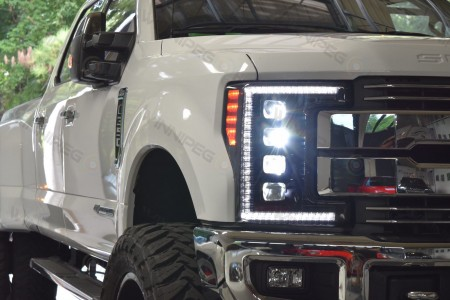 2017 Ford Superduty LED Headlights Morimoto XB LED Action 2