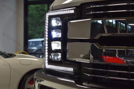 2017 Ford Superduty LED Headlights Morimoto XB LED Action 4