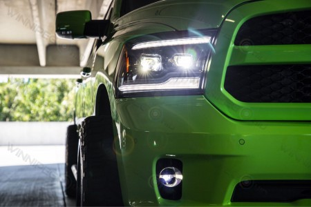 Dodge Ram LED Projector Headlights Morimoto XB Action 1